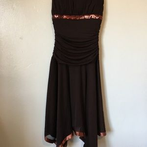 City Triangles Brown Dress with Sequins GUC